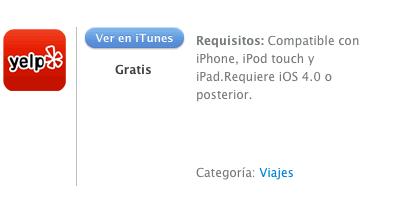 iTunes  Yelp