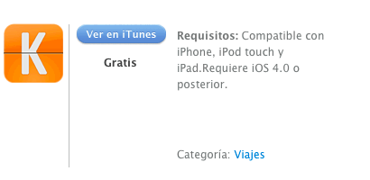 iTunes KAYAK