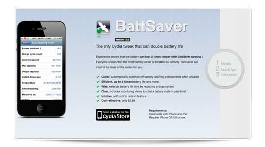 BattSaver promete duplicar la duración de la batería del iPhone, lo probamos a fondo