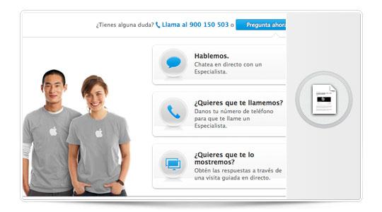 Apple introduce el asesoramiento online en su web, Y nosotros les entrevistamos