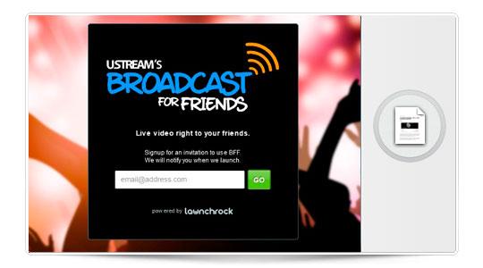 """Retransmite vídeo en directo desde tu iPhone con """"Broadcast for Friends"""""""