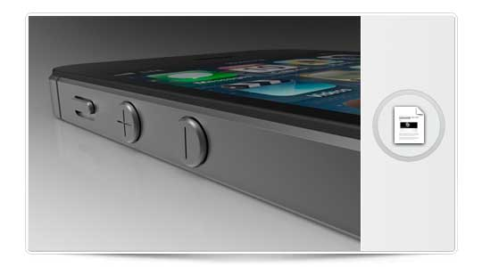Fotos comparativas del diseño del  iPhone 5 contra el iPhone 3GS y el iPhone 4
