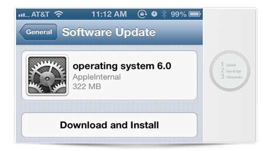 Actualiza a iOS 6 de forma inteligente