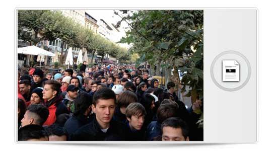 Apple lo vuelve a conseguir, El iPhone 5 mueve masas el día de su lanzamiento