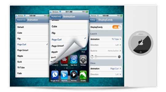 DisplayCandy cambia las animaciones de tu iPhone, muy bueno (Cydia)