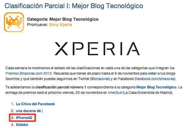 Premios Bitacoras.com 2012 - Categoría Mejor Blog Tecnológico-1