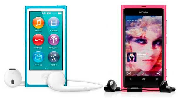 iPod-Nano-7G-Nokia-lumia 800