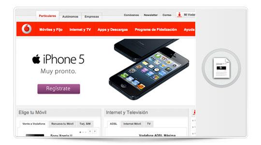 El iphone 5 en España, Vodafone mueve ficha…
