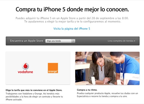 iphone 5 españa vodafone orange movistar
