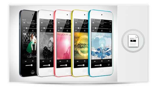 iPod Touch en la linea de siempre, y iPod Nano, el patito feo de la familia