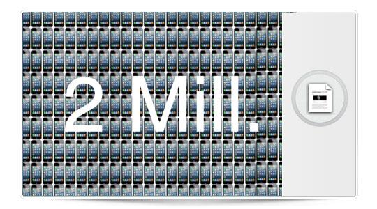 2 millones de reservas del iPhone 5 en 24 horas, de locos…