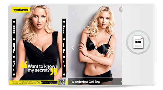 Una app para despelotar a la chica Wonderbra con tu iPhone…