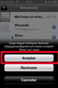 trucos ios 6 compartir fotos en streaming