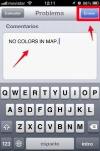 como reportar un error de mapas en iOs 6