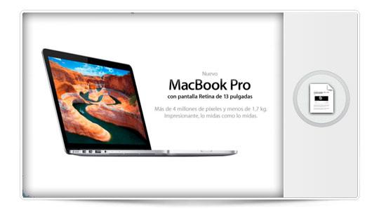 Nuevo MacBook Pro de 13 Pulgadas con Retina Display