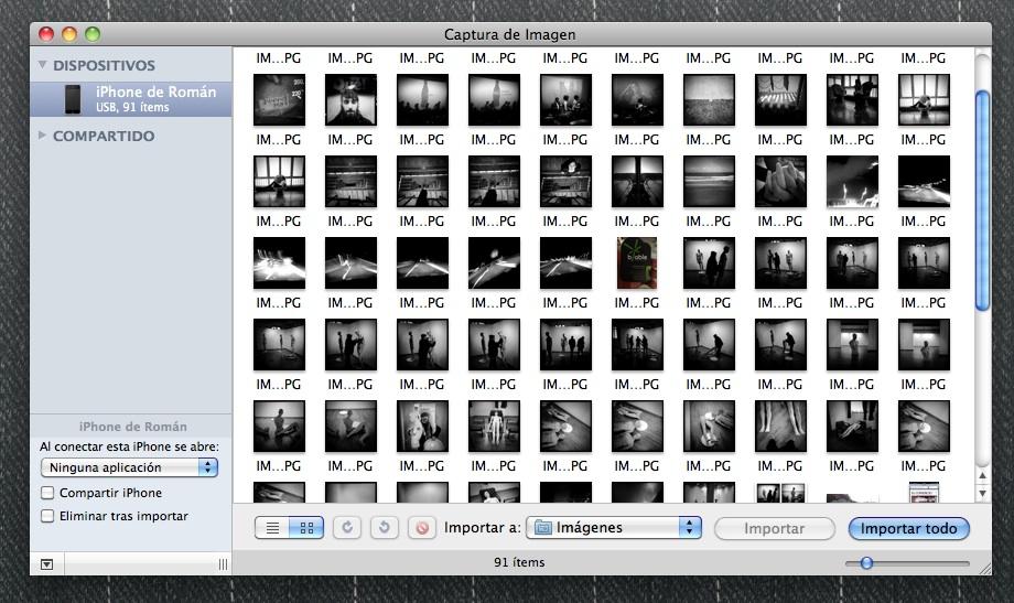 como descargar fotos del iphone sin iPhoto