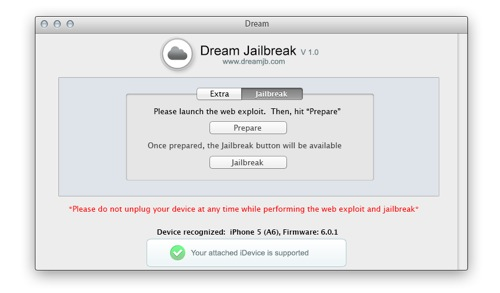 jailbreak untethered ios 6 iphone 5