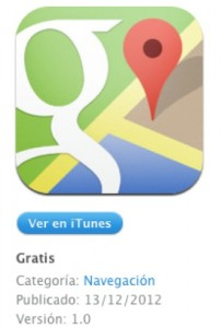 descargar aplicacion google maps para iphone ipad ios 6