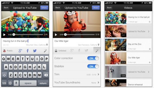 aplicacion youtube capture para iphone