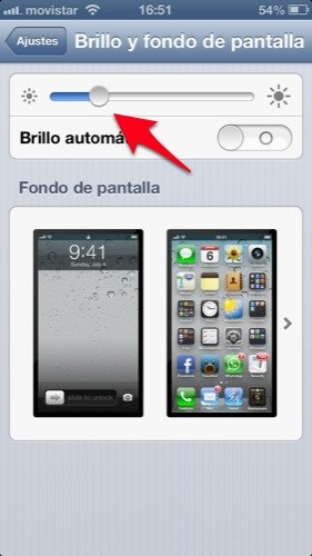 trucos iphone con ios 6 brillo automatico