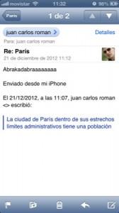 Trucos para iPhone con iOS 6: Como contestar a una parte de un Email