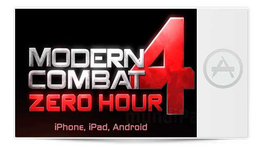 Si te gustan los Shooters no te pierdas Modern Combat 4: Zero Hour, Disponible ya!!