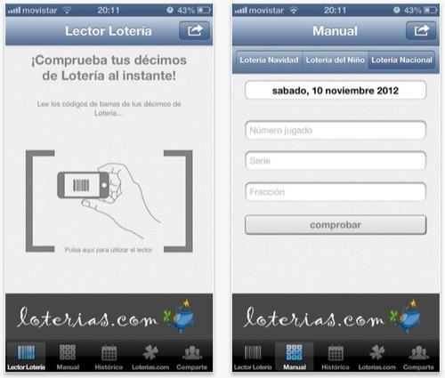 comprobar loteria navidad iphone