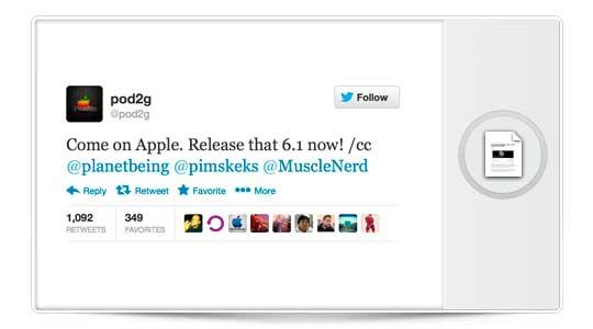 Pod2g quiere que Apple saque iOS 6.1 ya mismo, El JailBreak para iOS 6 está listo…
