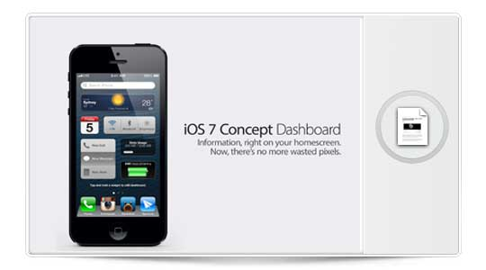 Nuevo DashBoard para iOS 7, ¡Apple Míralo!