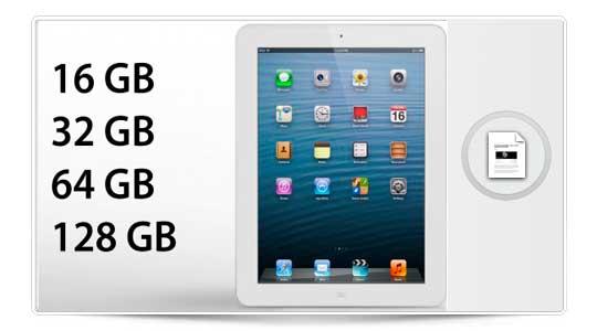 Apple confirma un iPad 4 de 128 Gigas, los rumores eran ciertos