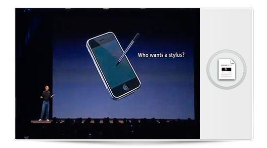 Apple se retracta y patenta un stylus para el iPhone y iPad