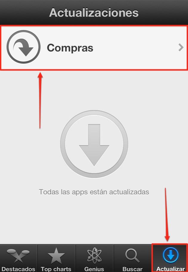 Acceder al historial de Apps