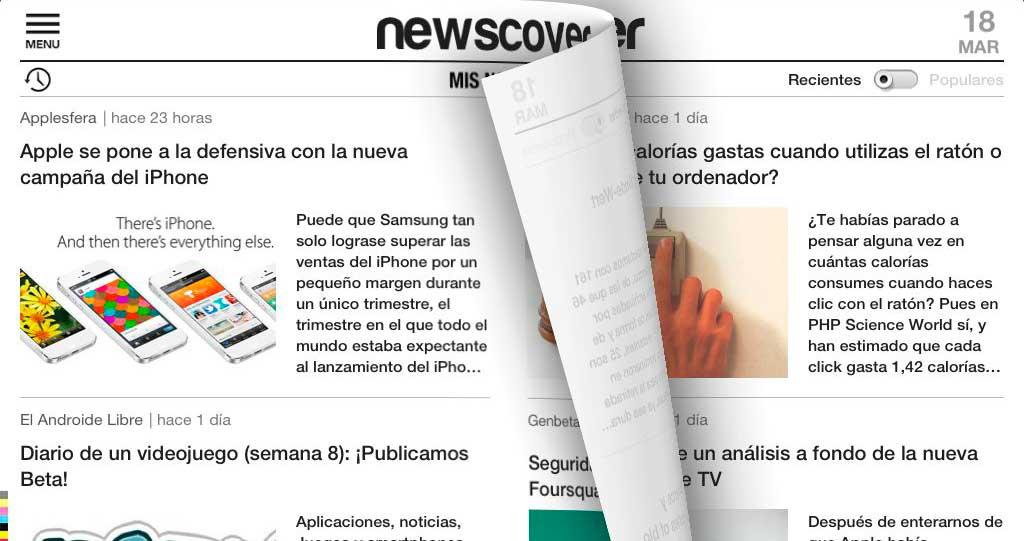 Aplicaciones iPhone: NewsCover es tu periódico personalizado