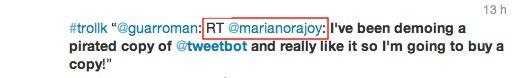 Tweetbot pirata
