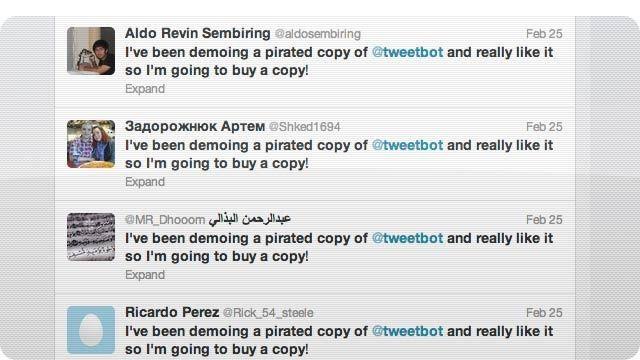 Tweetbot nombra a los piratas