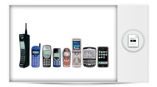 La historia de los teléfonos móviles en una bonita infografía.
