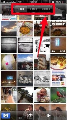 trucos para iphone con ios 6 separar las fotos de los videos
