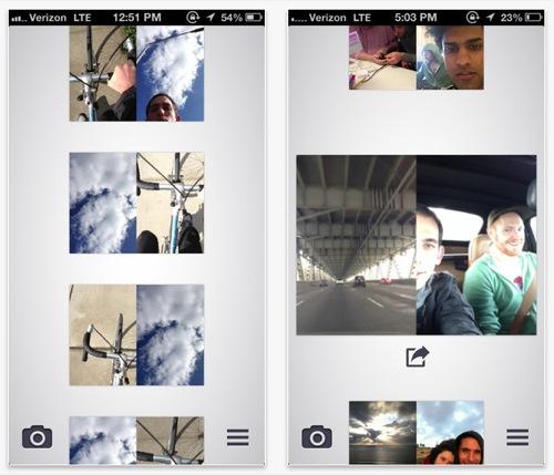 aplicaciones iphone hacer fotos con las dos camaras a la vez