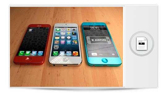 El iPhone 5S se podría comprar en varios colores, te enseñamos como queda…