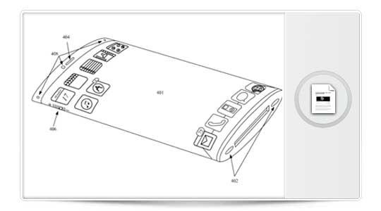 Apple Patenta un iPhone con pantalla envolvente