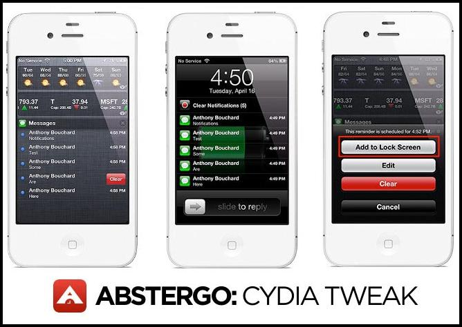 Abstergo, recordatorios para tus notificaciones, un Tweak genial [Cydia]