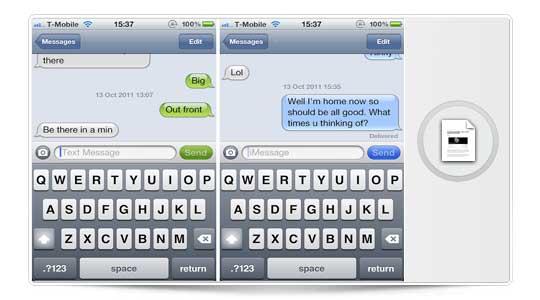 MessageSwiper, Desliza el dedo para cambiar entre conversaciones de iMessage [Cydia]