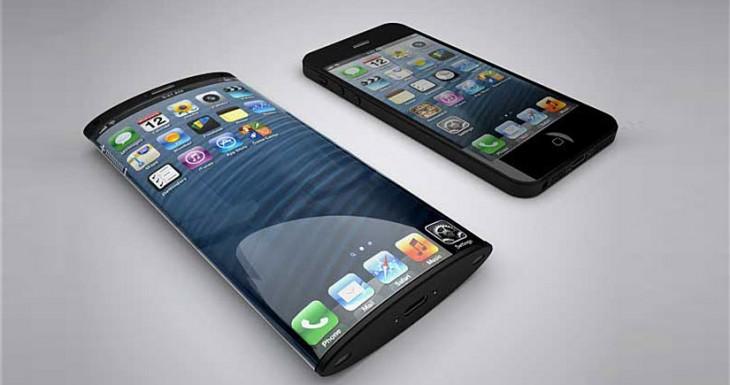 Una maqueta del iPhone con pantalla curva