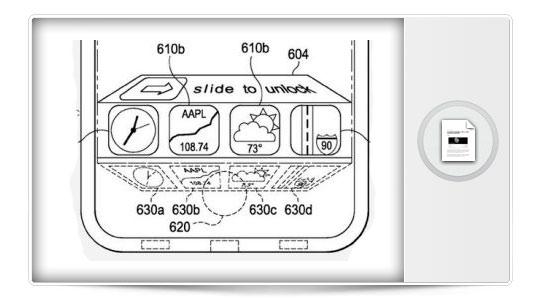 Apple patenta una posible novedad para iOS 7. El acceso a aplicaciones desde la pantalla de bloqueo.