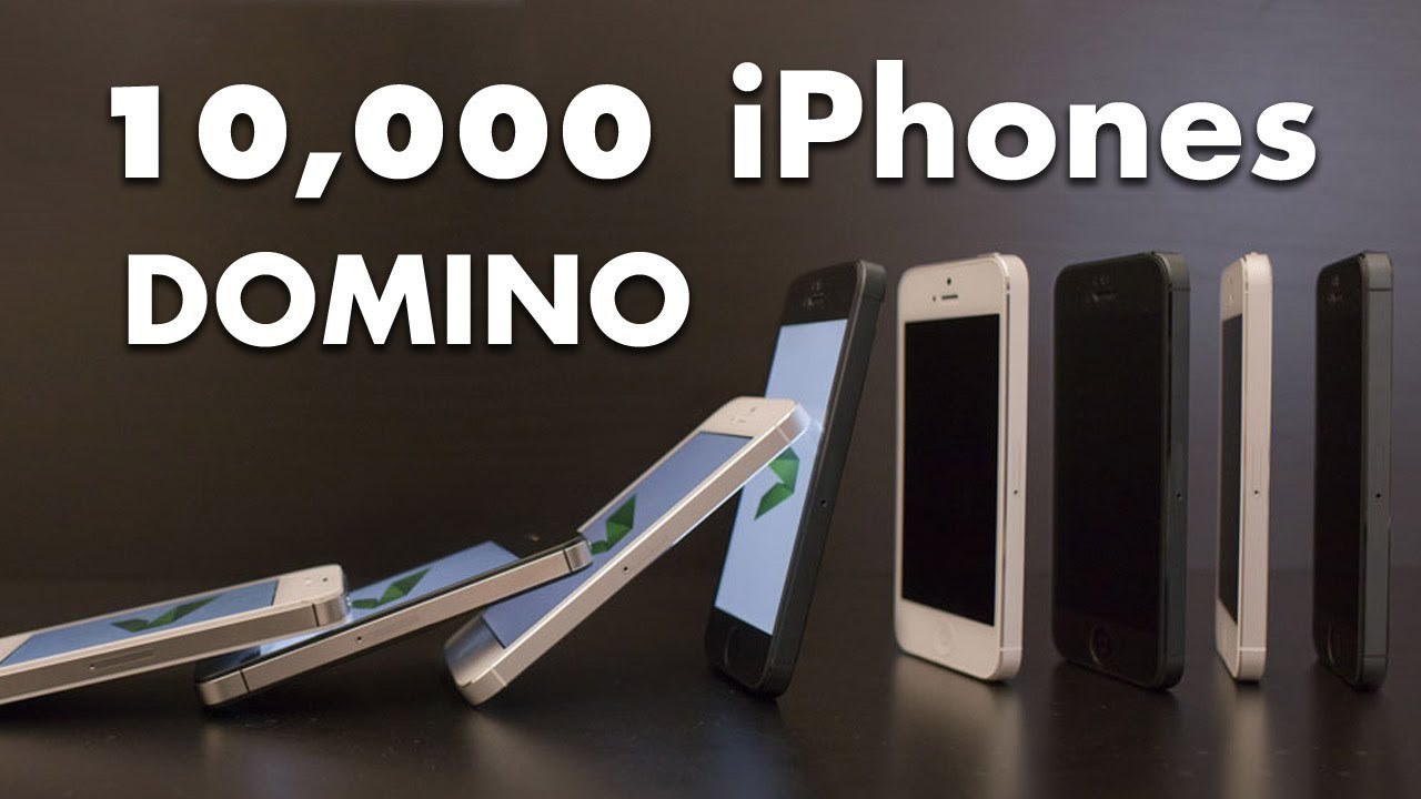 10.000 iPhone 5 cayendo en efecto Dominó, Espectacular vídeo