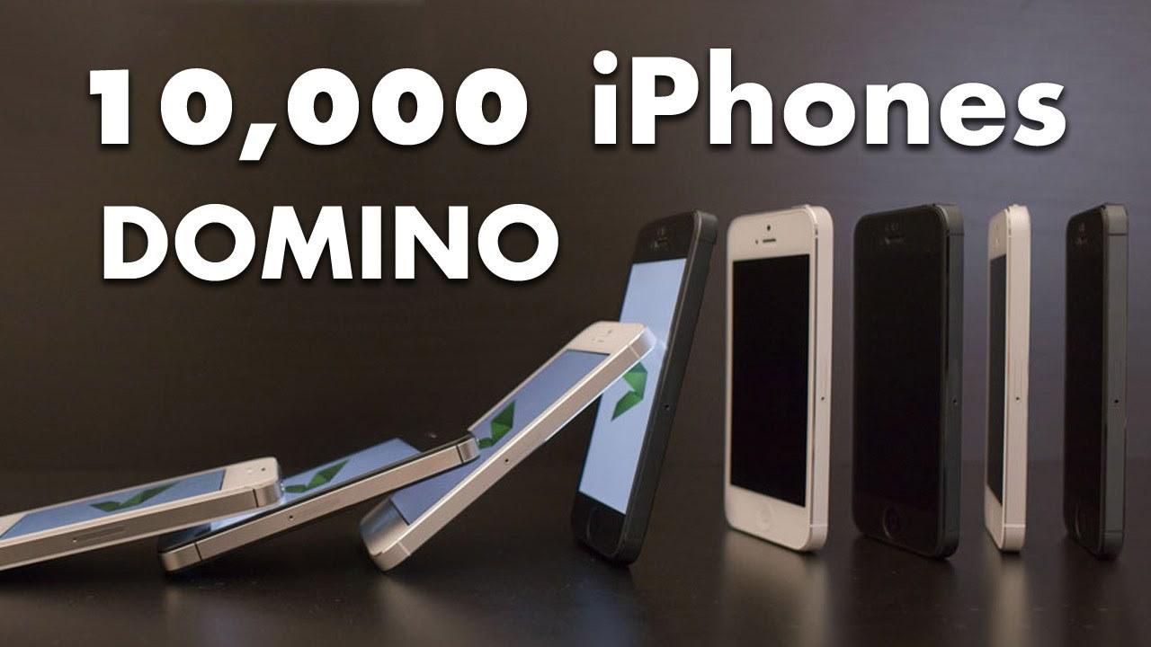 10.000 iPhone 5 cayendo en efecto Dominó, Espectacular vídeo