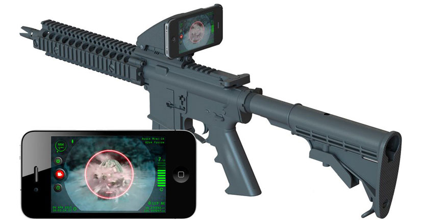 Usa tu iPhone como mira de tu fusil de asalto con Inteliscope…. están locos estos yankees