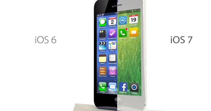 Un concepto de iOS 7 basado en los rumores de una interfaz plana
