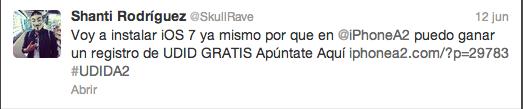Shanti Rodríguez (SkullRave) en Twitter