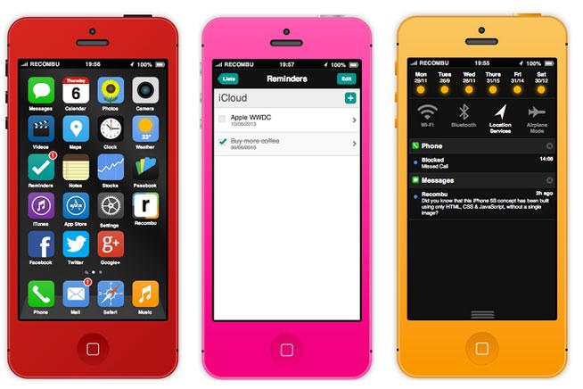 Un concepto interactivo de iOS 7 y iPhone 5S ¡Lo puedes usar!